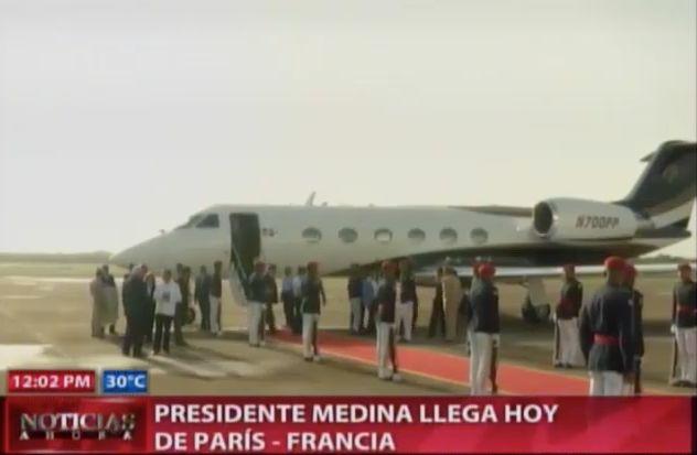 El Presidente Medina Llega Hoy De La Cumbre De París #Video