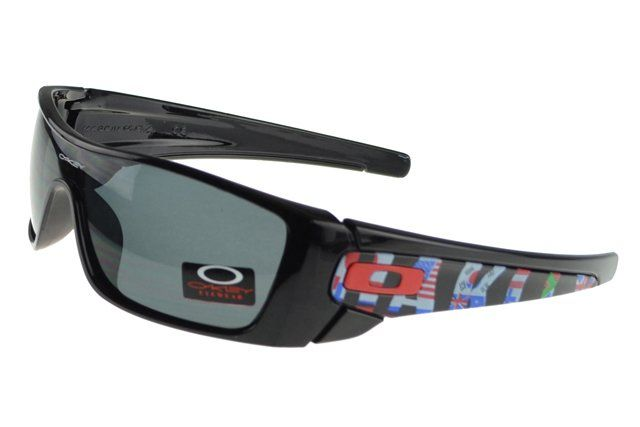 AAAAA Replica Oakley Batwolf Sunglasses Black Frame Gray Lens 1417#Oakley Sunglasses