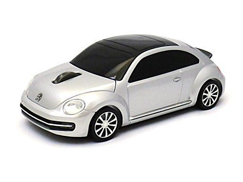 VW Beetle Wireless Computer Mouse -- Silver