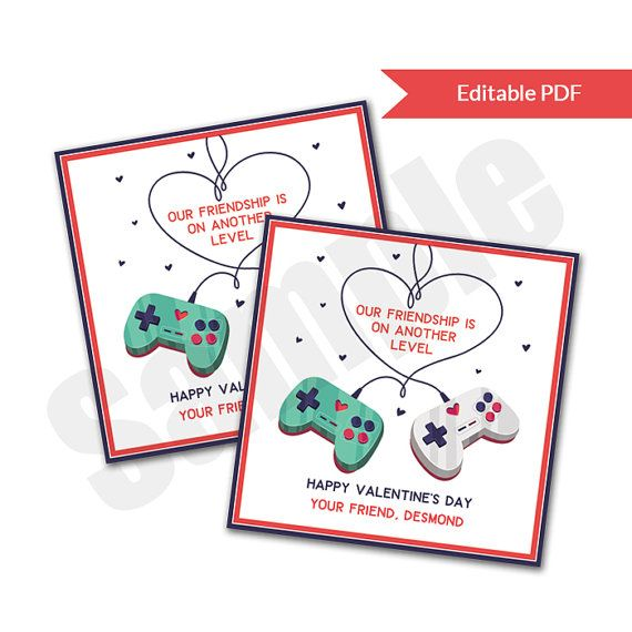 video game level up friendship valentines day  great for