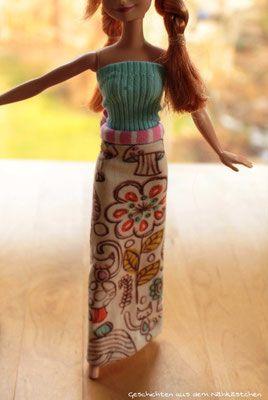 Minamo Barbiekleidung Hose, Pullover, Rock, Meerjungfrauenflosse