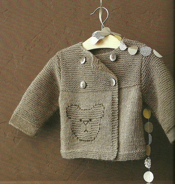 07 Brassi 232 Re Teddy Bear Cardigan Pattern By Phildar