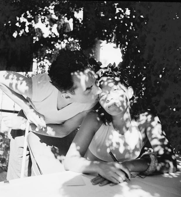 Lee Miller's portrait of Man Ray and his lover, model and muse Ady Fidelin in Mougins, France, 1937