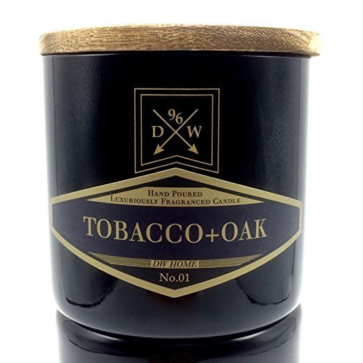 DW Tobacco Oak Scented Candle 14.16 Oz. 3 Wick In Glass With Wooden Lid