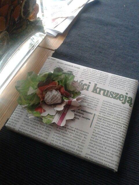Ekologiczna forma pakowania prezentów. Pomysł i foto M. Jędrzejak