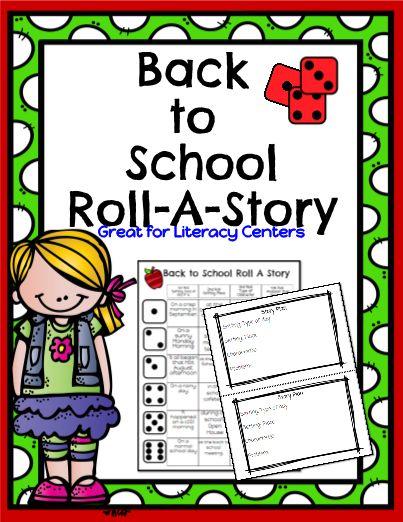 Back to School Roll A Story!  Great editable classroom materials @teachersherpa