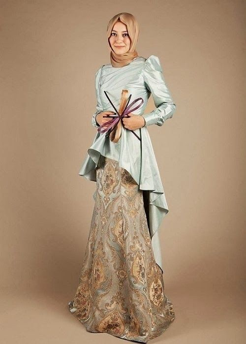 Engagement Hijab Styles and Dresses 2014