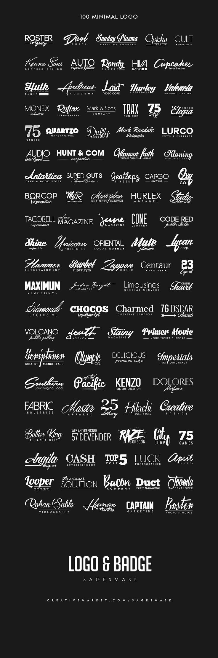 400 Minimal Logo by sagesmask on @creativemarket