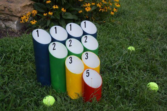 Tubo juego de pelota césped - Skee Ball juego, juegos de boda, recepción juegos, regalo de inauguración de la casa, juegos de patio, juegos cumpleaños, atento, BBQ juegos