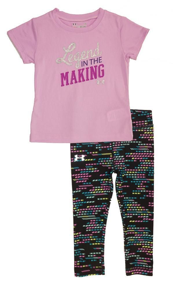 1acb23040bac76 Under Armour Toddler Girls Legend In The Making Top 2pc Legging Set Size 2T  #fashion #clothing #shoes #accessories #babytoddlerclothing ...