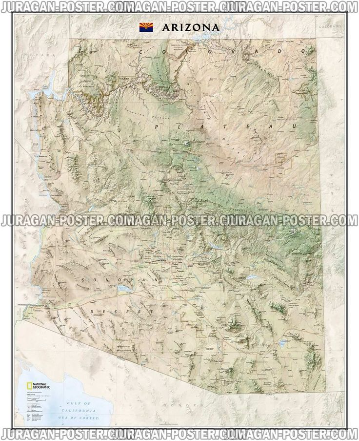 buy map arizona tubed by national geographic maps yellowmaps map store