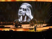 Adele performs at Talking Stick Resort Arena in Phoenix, Arizona