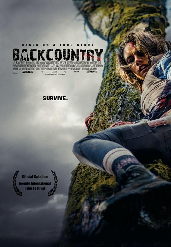We loved this movie poster for Backcountry. Read our review of the film at http://www.9livesdesign.ca/design-journal/2014/11/25/backcountry