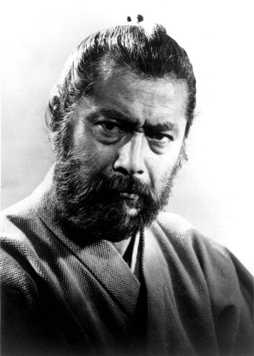 Toshirō Mifune in a publicity photo for Red Beard (Akira Kurosawa - 1965)