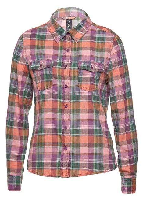 Dallas Check Shirt. Our long sleeve button through Dallas is the perfect statement shirt this season! In light weight cotton, it's great for layering. AUS $29.95. Shop at www.factorie.com.au