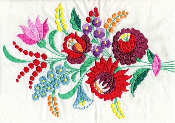 Hungarian 'Kalocsai' embroidery pattern