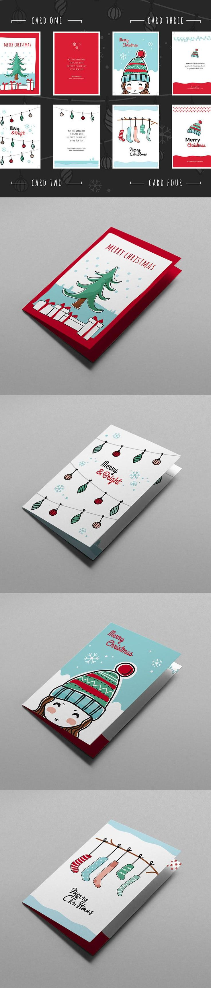 4 Free Christmas Card Templates