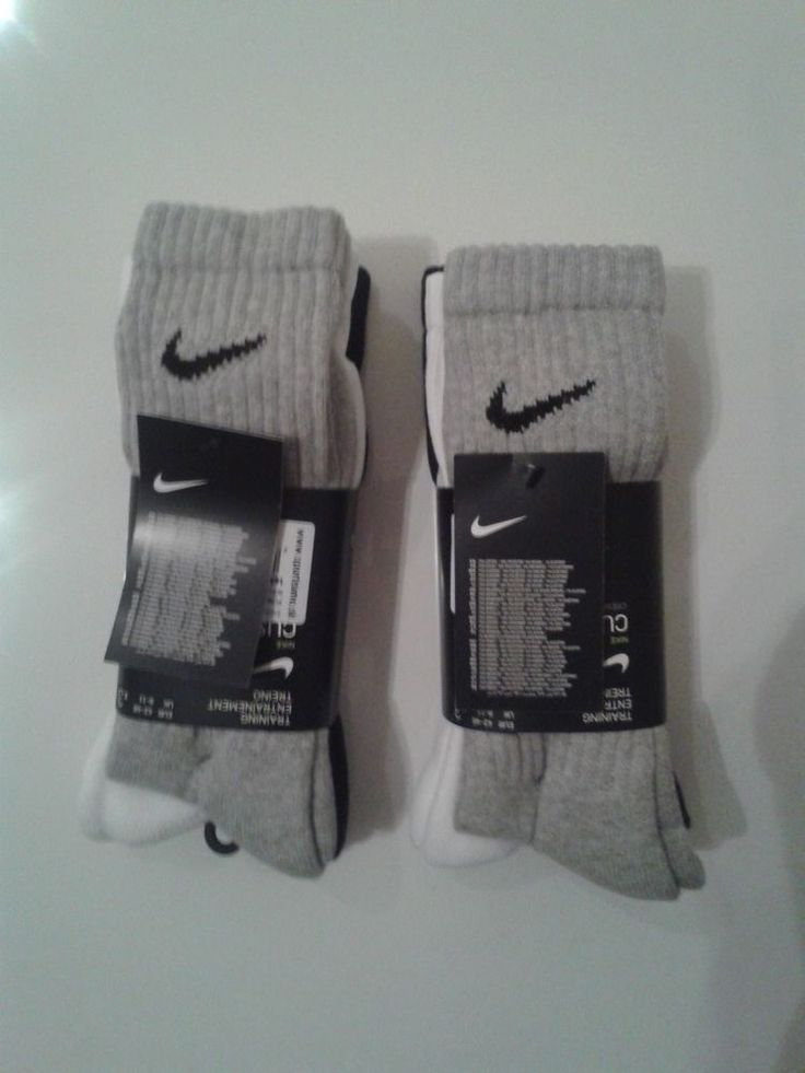 Nike Long Socks Brand New Athletic 6 Pack Size US 9-12 EU 42-46 UK 8-11 Training #Nike #Athletic