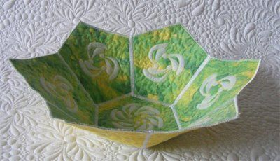 Tutorial - Quilted bowl /Geta's Quilting Studio