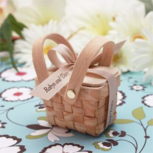 Wedding Favors & Party Supplies - Favors and Flowers :: Wedding Favor Themes :: Garden Theme Wedding Favors :: Mini Woven Picnic Baskets - 6 pcs