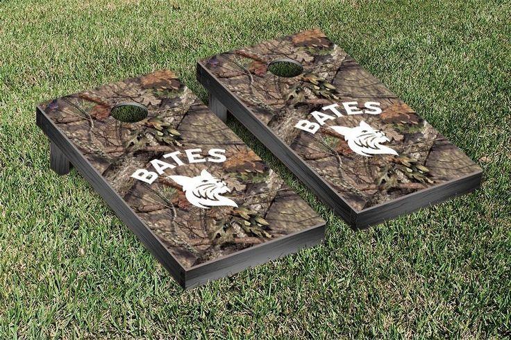 Bates College Bobcats Mossy Oak Bag Toss Cornhole Game
