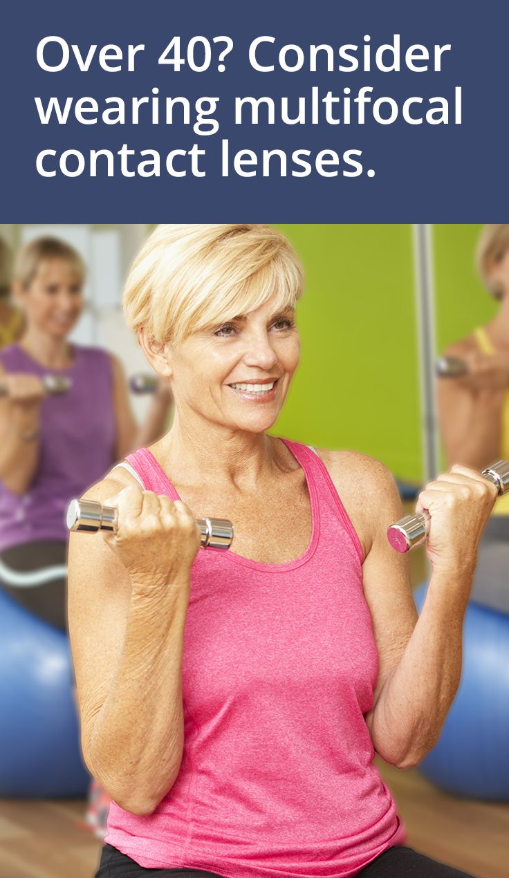 If you're over 40 and have an active lifestyle, you should consider wearing multifocal contact lenses.