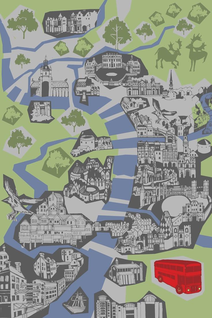 Mapa London%0A Secret London Rivers by Abi Daker
