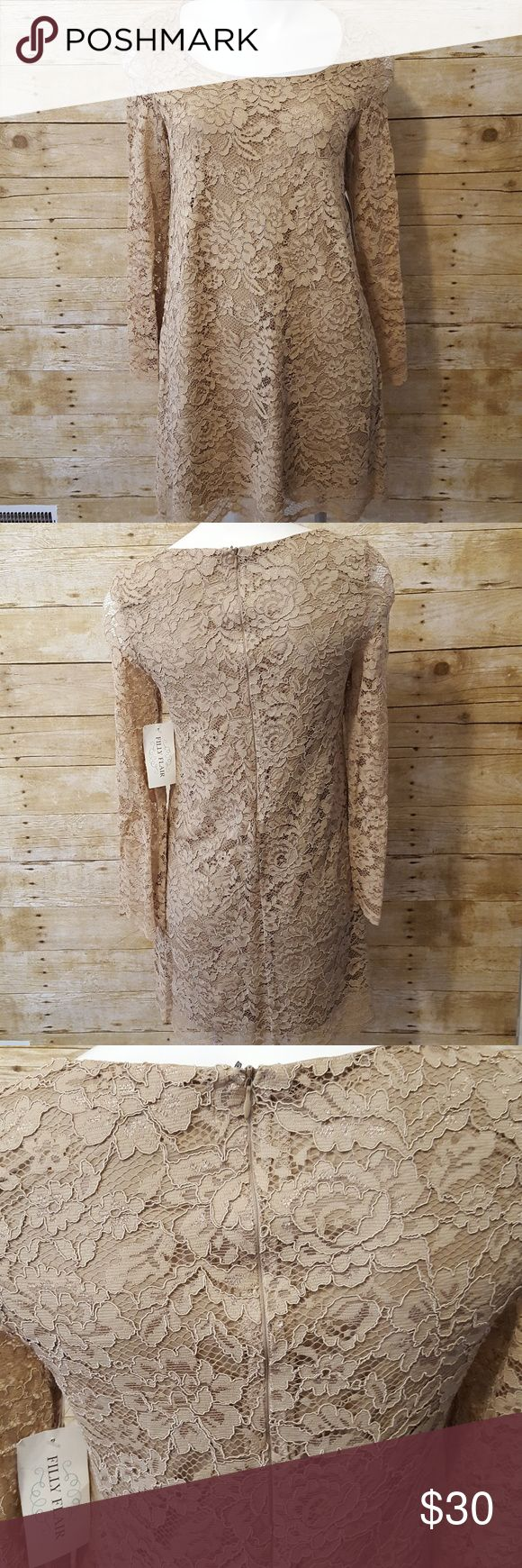 Filly Flair Lace Dress Filly Flair Women's Lace Dress Size Medium M Lined Bell Sleeve New. Filly Flair Dresses