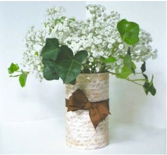 DIY- Simple French Country Vase