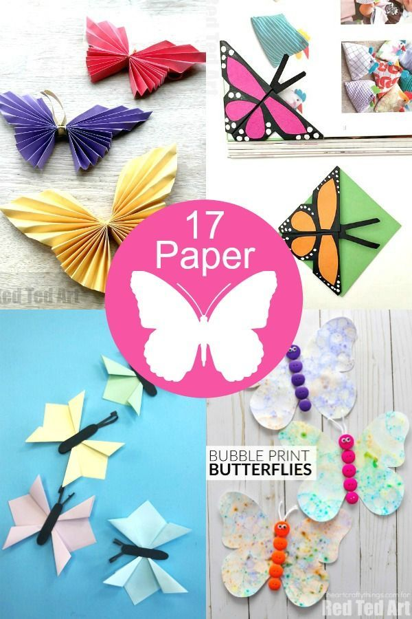 How To Make Butterflies Out Of Paper Red Ted Art Make Crafting With Kids Easy Fun Paper Butterfly Crafts Paper Crafts Diy How To Make Butterfly