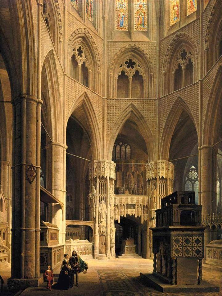 The Choir of Westminster Abbey - 1851 Max Emanuel Ainmiller (German), 1807-1870  Location: Bayerische Staatsgemäldesammlungen - Munich (Germany - Oberschleißheim)