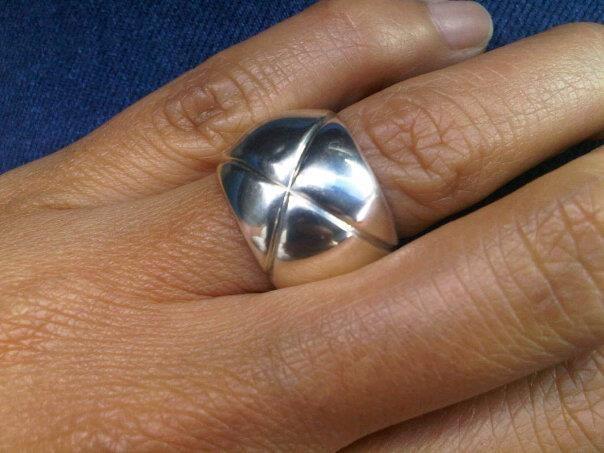 anillo embutido- gallones en plata