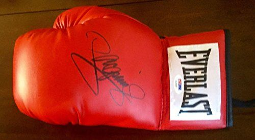 Manny PACMAN Pacquiao Signed EVERLAST Boxing Glove COA #4 - PSA/DNA Certified - Autographed Boxing Gloves @ niftywarehouse.com #NiftyWarehouse #PacMan #VideoGames #Pac-man #Arcade #Classic