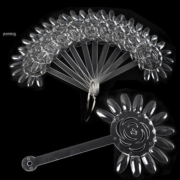 10 x 12 falso Nail Art Board dicas vara polonês prática de exibição dobrável transparente Fan limpar 34 alishoppbrasil