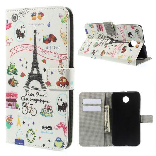 Mesh - Motorola Nexus 6 - Wallet Case Hoesje Parijs | Shop4Hoesjes.nl