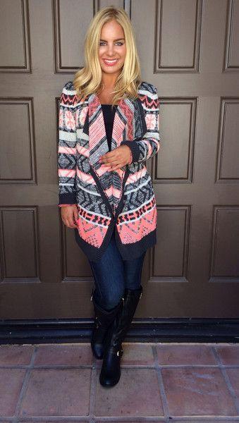 Sweet Tart Knit Cardigan Sweater