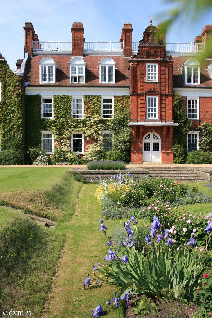 Beautiful English garden ~ Sidgwick Building, Newnham College, Cambridge, England