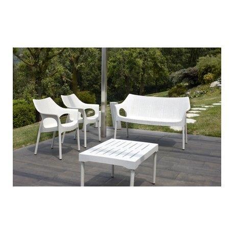 Plastové židle OLINA V TREND Lněná + lavice, zátiší