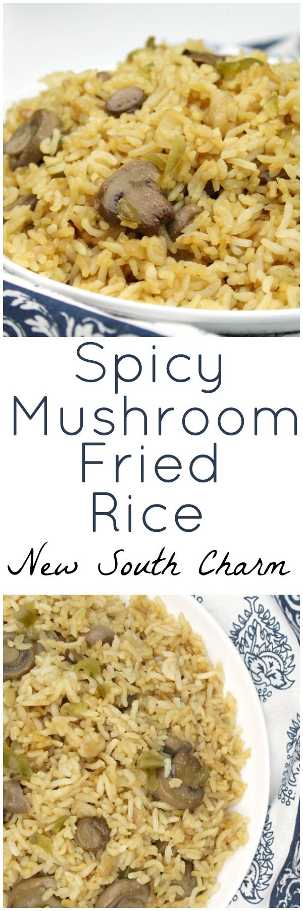 Spicy Mushroom Fried Rice is a great side dish that comes together in just a few minutes and is a great with chicken, pork, beef or fish. #ad #Veetee