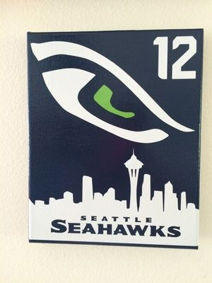 8x10 Seattle Seahawks 12th man Canvas!
