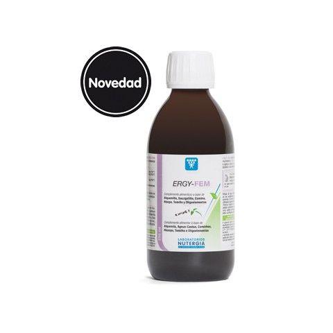 Ergy-Fem de Nutergia es un complemento nutricional indicado para ayudar a la regulación hormonal y paliar los síntomas del síndrome premenstrual.