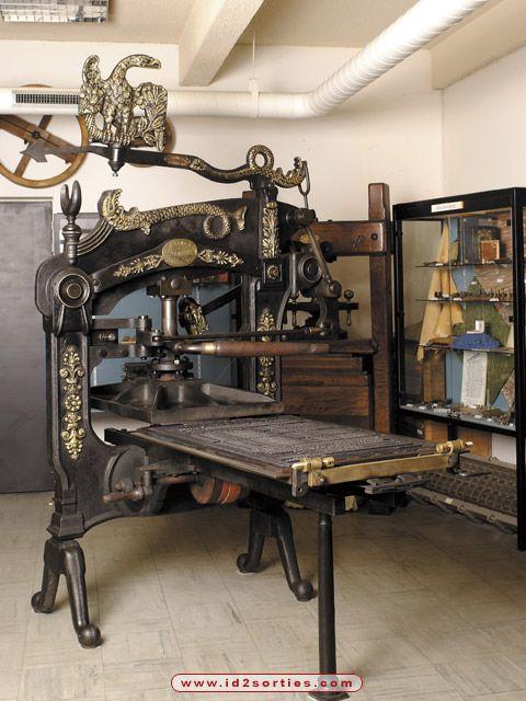 presse d impression typographique musee de l imprimerie nantes photo id sorties