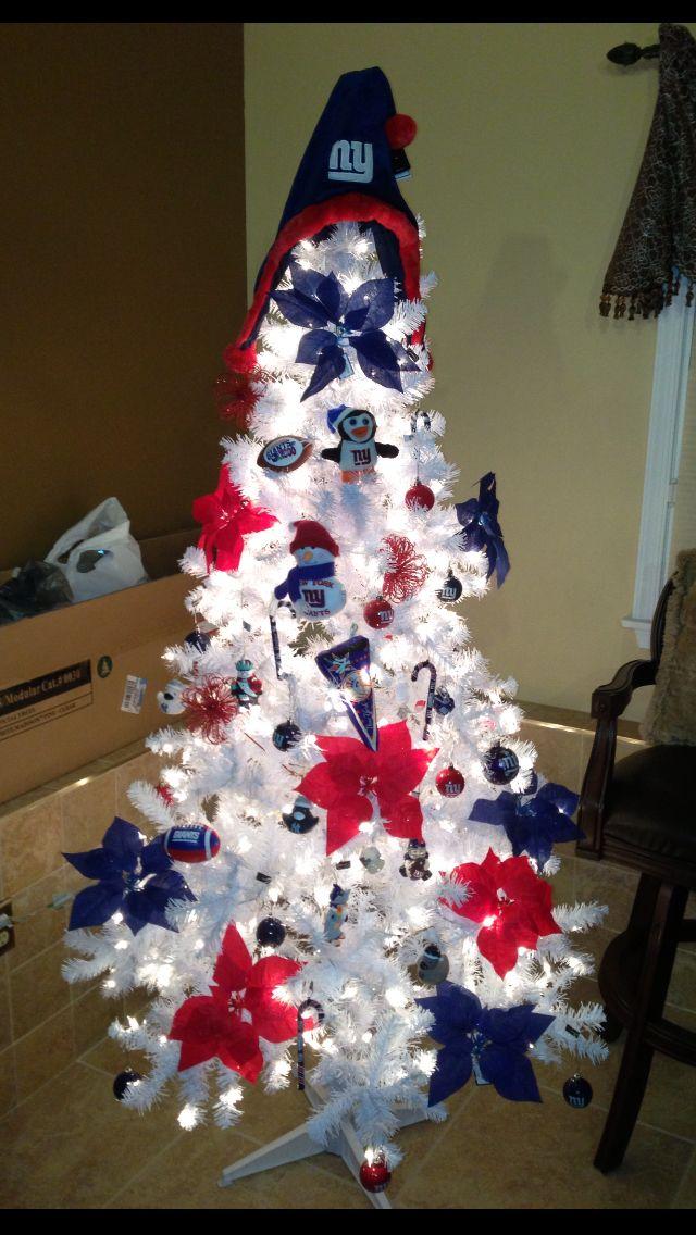 New York giants and Yankees Christmas tree