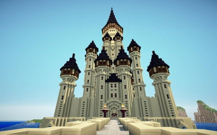 Giant Sandstone Minecraft Palace