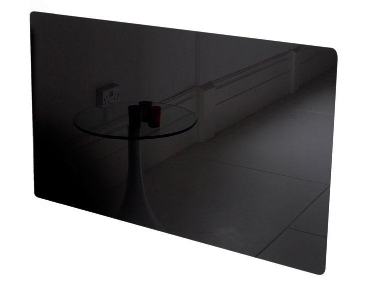 Adam Vitreo Small Radiator Cover in Black Glass, 900mm @ Fireplace World   £49