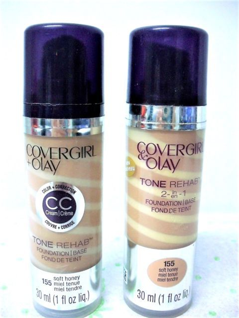 COVERGIRL Olay Tone Rehab 2 in 1 Foundation Soft Honey 155