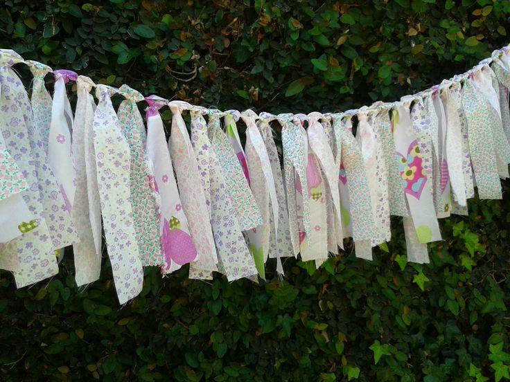 Guirnalda de telas romantica ideas pinterest - Guirnaldas de tela ...