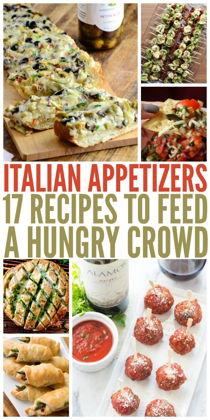 17 Italian Appetizers to Feed a Hungry Crowd  Whether you are planning a big Italian meal or are just looking for some mouthwatering starters for your next party, these Italian appetizers are where it's at. The post 17 Italian Appetizers to Feed a Hungry Crowd appeared first on Woman Casual.