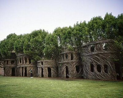 Living Castle - willow structures.