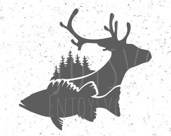 Download Fish And Deer Svg Fish Svg Deer Svg Fish And Deer Svg File Deer Svg Fish Svg Fishing Svg